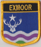 Exmoor Embroidered Flag Patch, style 07